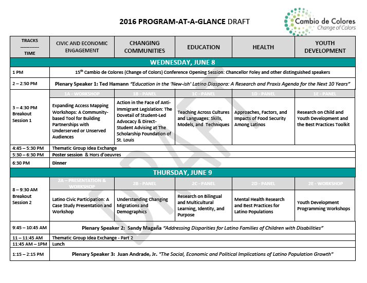 program at a glance image